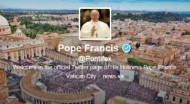 Suivez le pape François sur Twitter