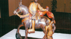 Tournai: la statue de saint Martin a disparu à Lens