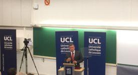 Le roi Abdallah de Jordanie au CISMOC de l'UCL