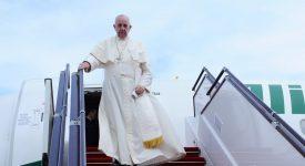 Le pape François s'est envolé pour la Colombie