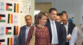 La Reine Mathilde en visite dans les camps de réfugiés jordaniens