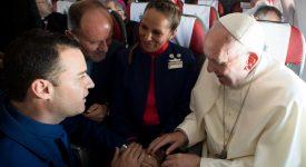 Mariage dans l'avion du pape: «Nous sommes du diocèse du ciel»