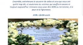 Bruxelles : Rassemblement à l'occasion de la Journée Européenne des Victimes du Terrorisme