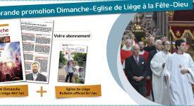 Promotion Dimanche-Eglise de Liège à la Fête Dieu
