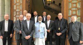 Mgr Salvadore Lobo, évêque de Barulpur (Inde) a rencontré les évêques de Belgique