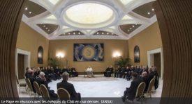 Le pape satisfait par la démarche de l'Eglise chilienne