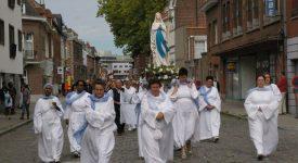 ND de Lourdes à l'honneur de la Grande Procession de Tournai