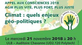 Conférence – Climat: quels enjeux géopolitiques?