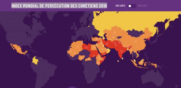 Index mondial de persécution des chrétiens 2019
