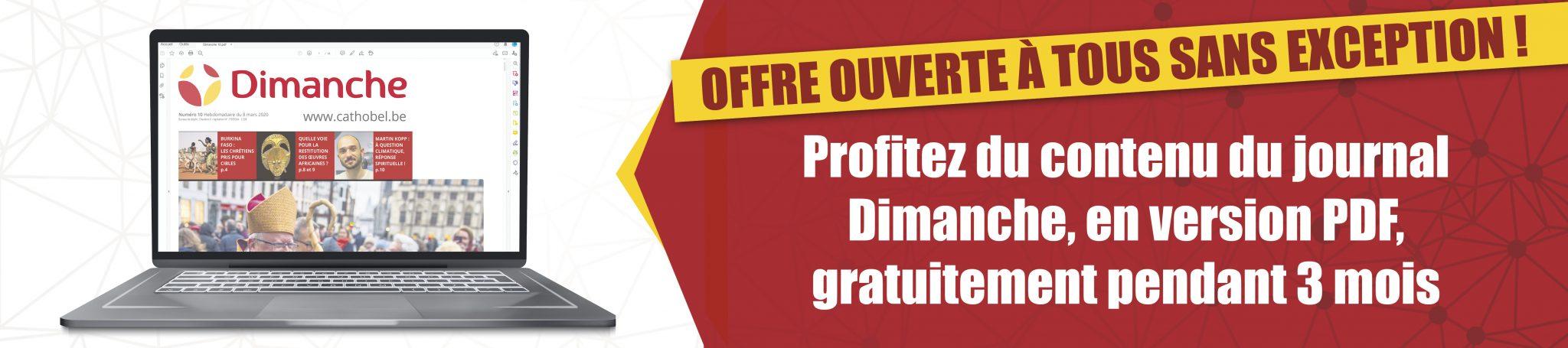 Journal Dimanche gratuit pour 3 mois en pdf