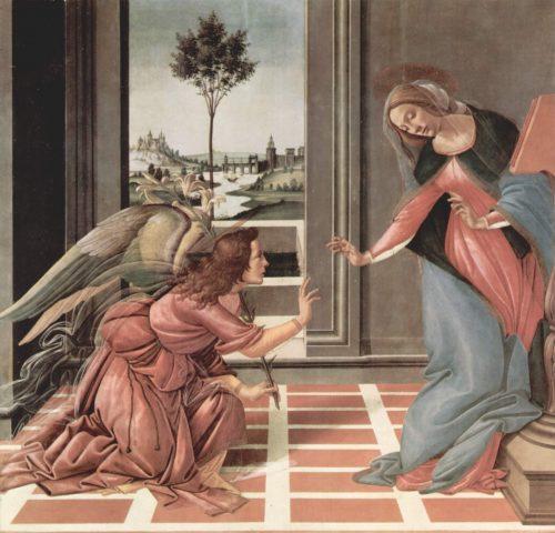 L'Annonciation du Cestello - Sandro Botticelli - 1489 -1490