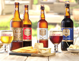 Sélection de bières et fromages de ©Chimay