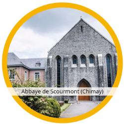 Vue de l'abbaye Trappiste de Scourmont à Chimay