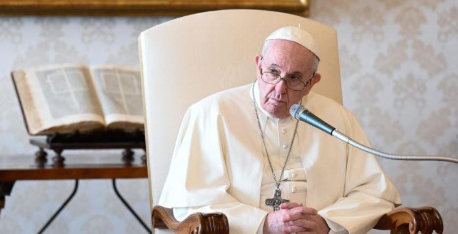 Le Pape François lors de l'audience générale de ce mercredi 18 novembre 2020. (Vatican Media)