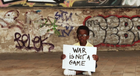 War is not a game - sign4wing
