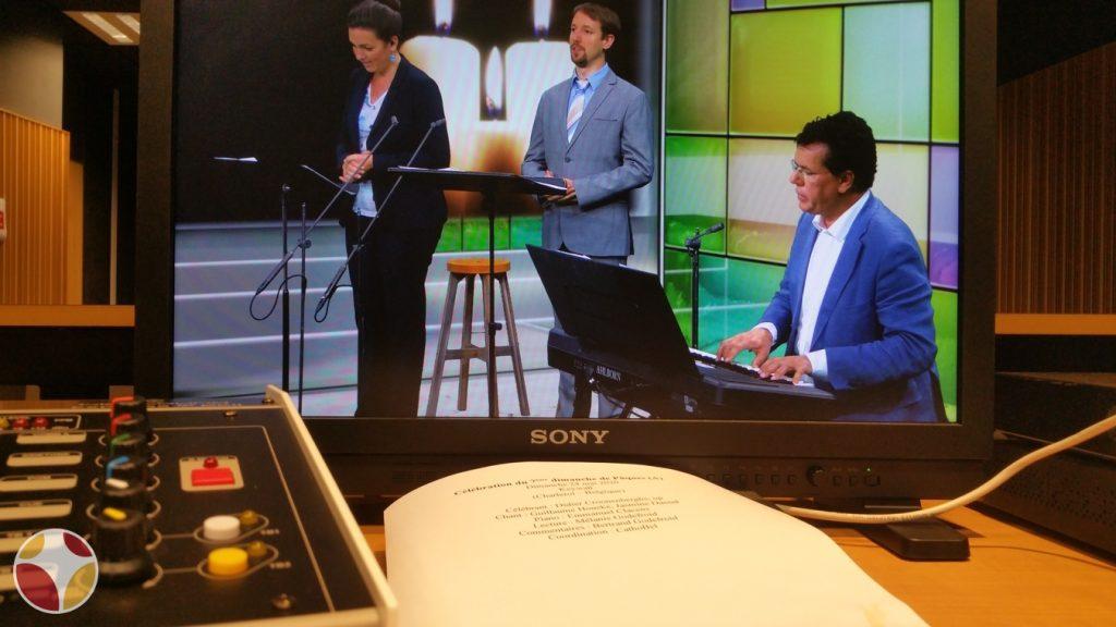 Messe TV enregistrée au studio Keywall à Marcinelle