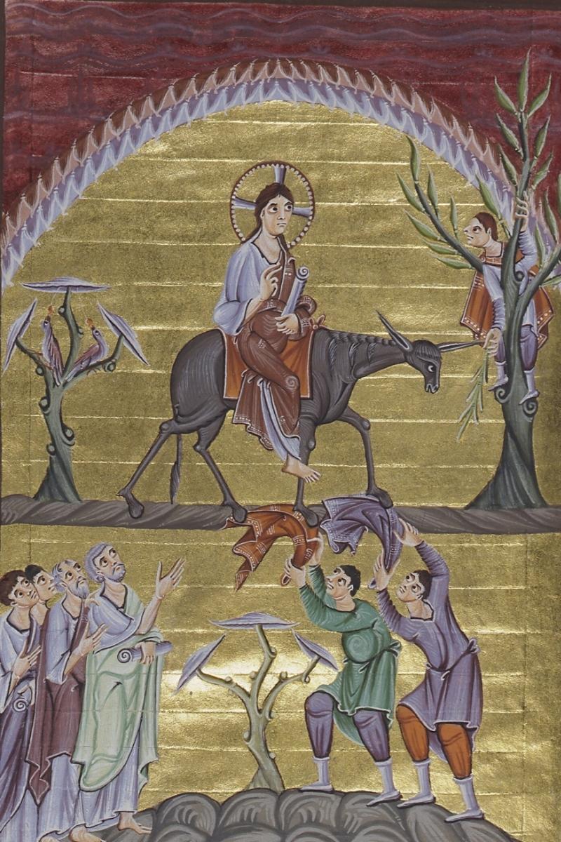 L'entrée à Jérusalem avec les rameaux