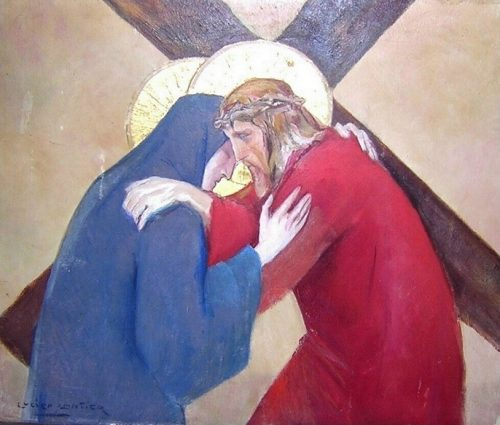 Extrait du chemin de croix créé par les animateurs du groupe de jeunes et catéchistes de Saint-Jean-Baptiste à Wavre.
