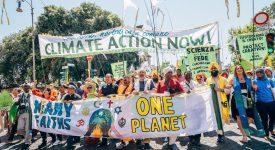 Manfiestation interreligieuse pour la justice climatique