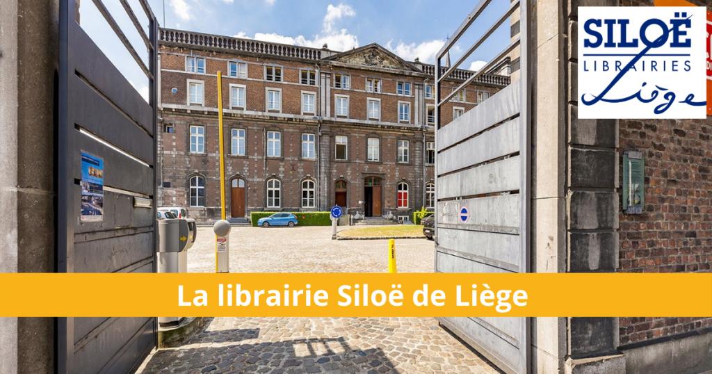 Vue extérieure de la librairie Siloë de Liège